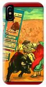 Bullfight Poster IPhone Case
