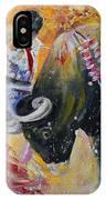 Bullfighting In Neon Light 02 IPhone Case