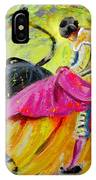 Bullfighting In Neon Light 01 IPhone Case