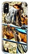 Bullrider And His Bull IPhone Case