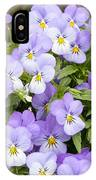 Bunch Of Pansy Flowers IPhone Case