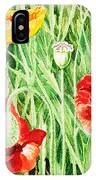 Bunch Of Poppies IIi IPhone Case