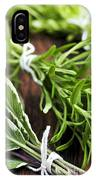 Bunches Of Fresh Herbs IPhone Case
