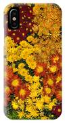 Bunches Of Yellow Copper Orange Red Maroon - Hot Autumn Abundance IPhone Case