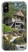 Bungalow In Koh Rong Island Beach In Cambodia IPhone Case