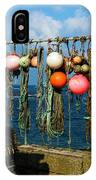 Buoys And Pots In Sennen Cove IPhone Case