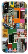 Burano Italy Collage IPhone Case