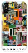 Burano Italy Poster IPhone Case