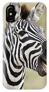 Burchells Zebra Equus Quagga Burchellii IPhone Case