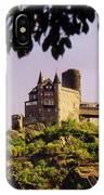 Burg Katze Castle On The Rhine IPhone Case