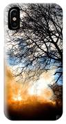 Burning Olive Tree Cuttings IPhone Case