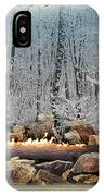 Burning Yule Log IPhone Case