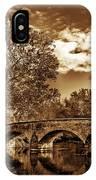 Burnside Bridge At Antietam - Toned IPhone Case