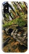 Burnt Tree In A New Forest. IPhone Case