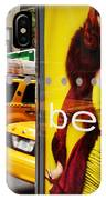 Bus Poster With Taxis - New York IPhone Case