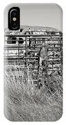Bus Stop On Route 66 In Oklahoma In Black And White IPhone Case