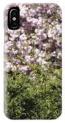 Bush With The Background In Cherry Klarenbeek Park In Arnhem Netherlands IPhone Case