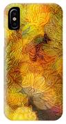 Busy Bee In The Marigolds IPhone Case