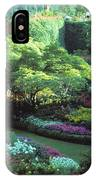 Butchard Gardens Vancouver Island IPhone Case