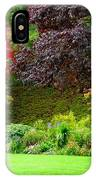 Butchart Gardens Lawn And Tree IPhone Case