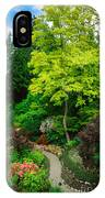 Butchart Gardens Pathway IPhone Case