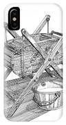 Butter Churn Circa 1822 IPhone Case