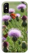 Butterflies And Bull Thistle Wildflowers IPhone Case