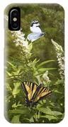 Butterflies In Golden Garden IPhone Case