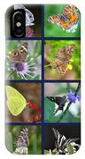 Butterflies Squares Collage IPhone Case