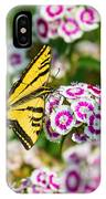 Butterfly And Blooms - Spring Flowers And Tiger Swallowtail Butterfly. IPhone Case