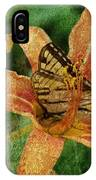 Butterfly And Lily IPhone Case