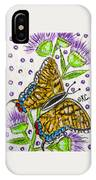 Butterfly And Thistles IPhone Case