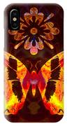 Butterfly By Design Abstract Symbols Artwork IPhone Case