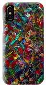 Butterfly Collage Red IPhone Case