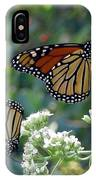 Butterfly Garden - Monarchs 01 IPhone Case