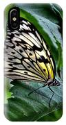 Butterfly - Green Leaf IPhone Case