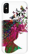 Butterfly Hair IPhone Case
