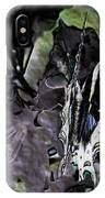 Butterfly In Violet Green And Black IPhone Case