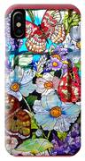 Butterfly Octagon Stained Glass Window IPhone Case