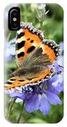 Butterfly On Blue Flower IPhone Case