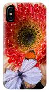 Butterfly On Daisy IPhone Case