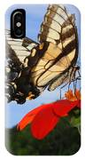 Butterfly On Red Daisy IPhone Case