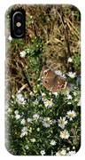 Butterfly On White Flowers IPhone Case