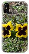 Butterfly Pansies IPhone Case