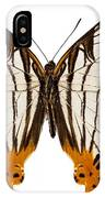Butterfly Species Cyrestis Lutea Martini IPhone Case