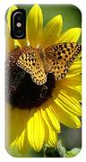 Butterfly Sunflower IPhone Case