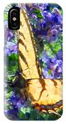 Butterfly With Purple Flowers 3 IPhone Case