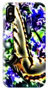 Butterfly With Purple Flowers 4 IPhone Case