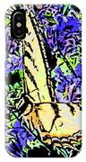Butterfly With Purple Flowers IPhone Case