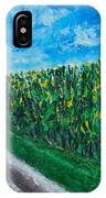 By An Indiana Cornfield The Road Home IPhone Case